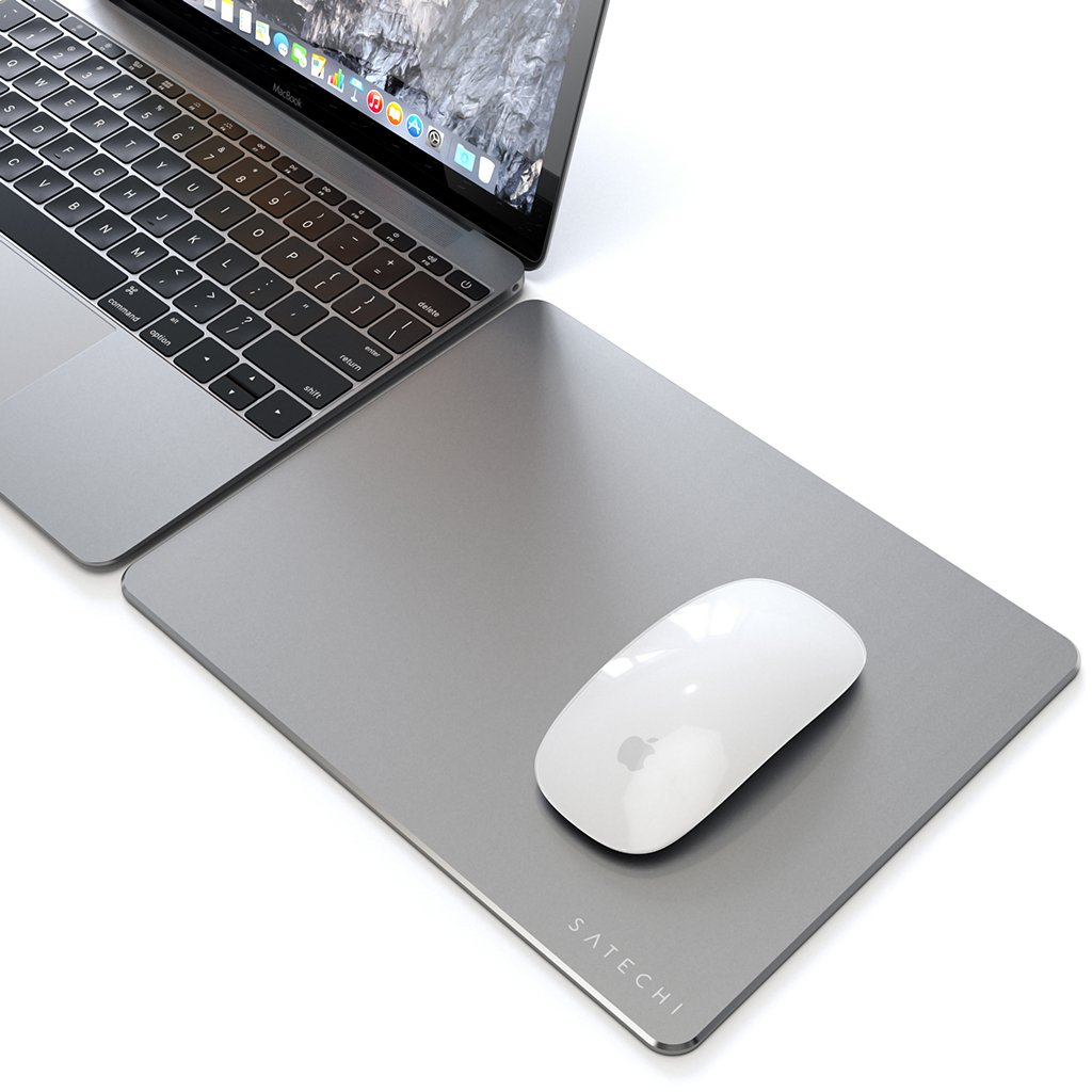 Satechi aluminum mouse pad tapis de souris Space Grey gris sidéral