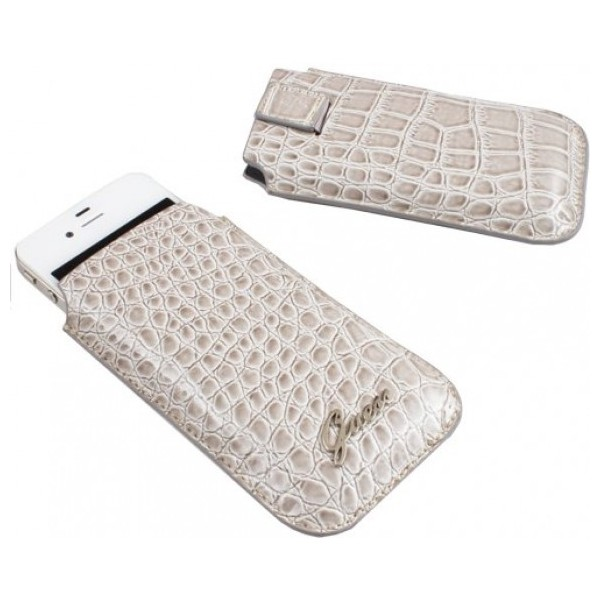 Housse Guess croco beige universelle iPhone 5, 5S, 5C, SE