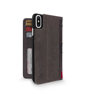 Coque Twelve South BookBook iPhone X brun brown