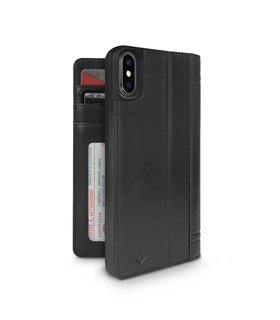 Coque Twelve South Journal iPhone X noir black