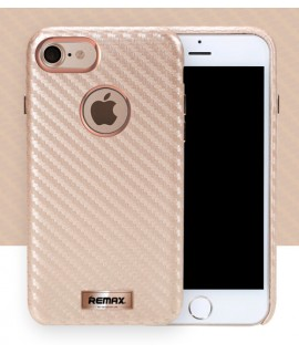 Coque Remax carbone iPhone 7 couleur Rose Gold